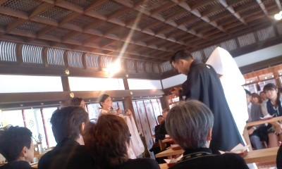 葬儀葬祭経営コンサルタント中西正人(上賀茂本殿挙式)